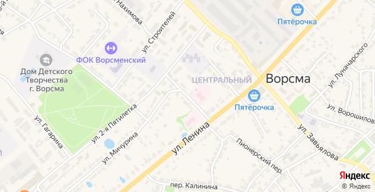 Переулок 2-я Пятилетка в Ворсме с номерами домов на карте. Спутник и схема онлайн