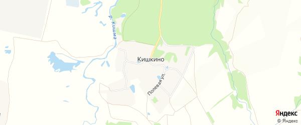 Карта деревни Кишкино в Нижегородской области с улицами и номерами домов