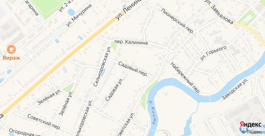 Садовый переулок в Ворсме с номерами домов на карте. Спутник и схема онлайн