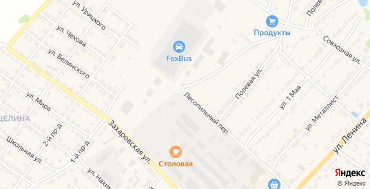 Лесопильный переулок в Ворсме с номерами домов на карте. Спутник и схема онлайн
