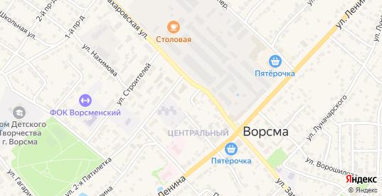 Заводской переулок в Ворсме с номерами домов на карте. Спутник и схема онлайн