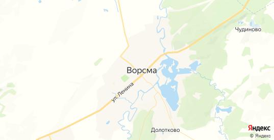 Карта Ворсмы с улицами и домами подробная. Показать со спутника номера домов онлайн