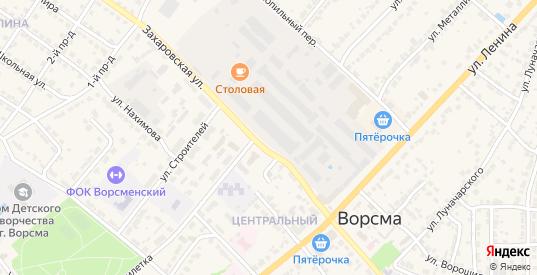 Кленовый переулок в Ворсме с номерами домов на карте. Спутник и схема онлайн