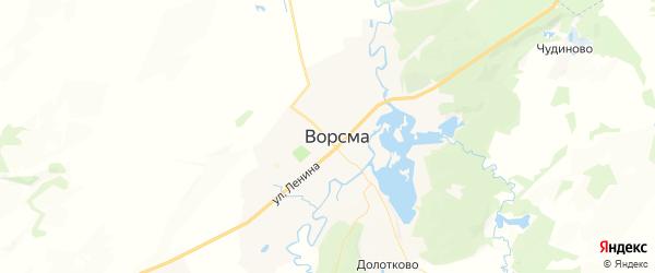Карта Ворсмы с районами, улицами и номерами домов