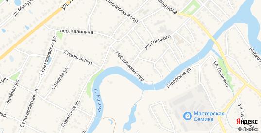 Набережный переулок в Ворсме с номерами домов на карте. Спутник и схема онлайн