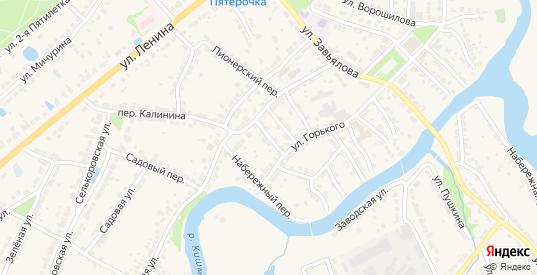 Рабкоровский переулок в Ворсме с номерами домов на карте. Спутник и схема онлайн