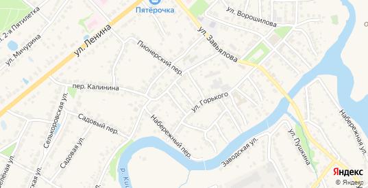 Переулок Кирова в Ворсме с номерами домов на карте. Спутник и схема онлайн
