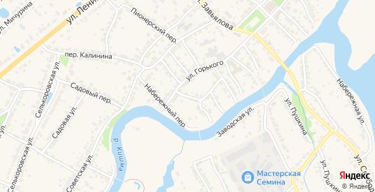 Переулок Чкалова в Ворсме с номерами домов на карте. Спутник и схема онлайн