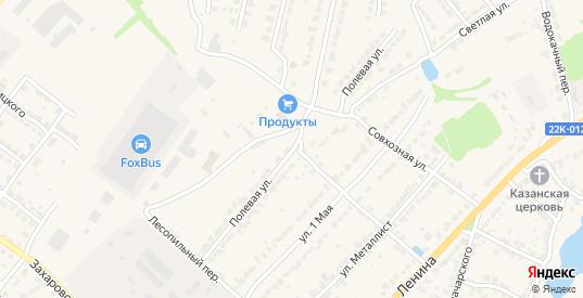 Полевая улица в Ворсме с номерами домов на карте. Спутник и схема онлайн