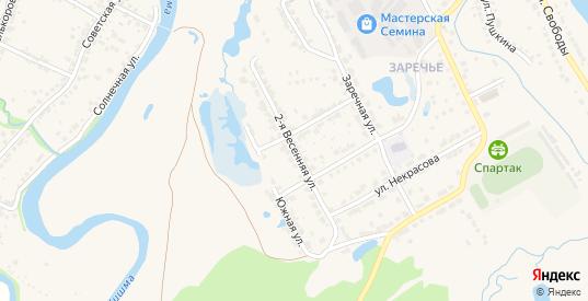 2-я Весенняя улица в Ворсме с номерами домов на карте. Спутник и схема онлайн
