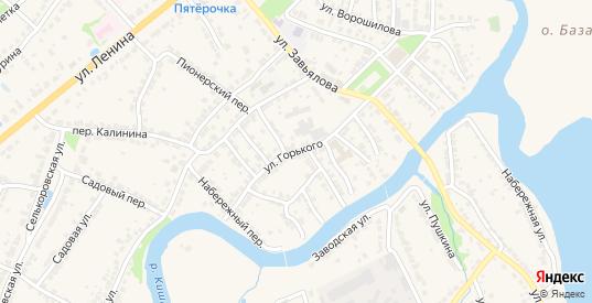 Улица М.Горького в Ворсме с номерами домов на карте. Спутник и схема онлайн