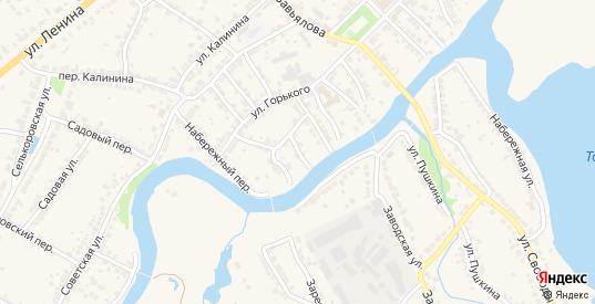 Речной переулок в Ворсме с номерами домов на карте. Спутник и схема онлайн