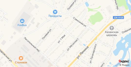 1 Мая улица в Ворсме с номерами домов на карте. Спутник и схема онлайн