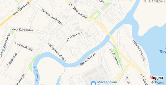 Переулок М.Горького в Ворсме с номерами домов на карте. Спутник и схема онлайн