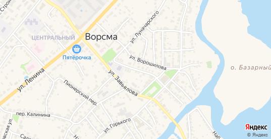 Улица С.П.Голицына в Ворсме с номерами домов на карте. Спутник и схема онлайн