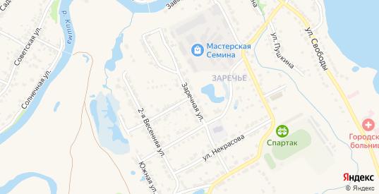 Шоссейный переулок в Ворсме с номерами домов на карте. Спутник и схема онлайн