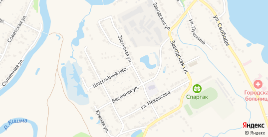 Заречная улица в Ворсме с номерами домов на карте. Спутник и схема онлайн