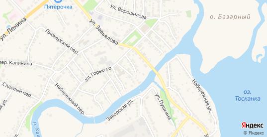 Переулок Шмидта в Ворсме с номерами домов на карте. Спутник и схема онлайн