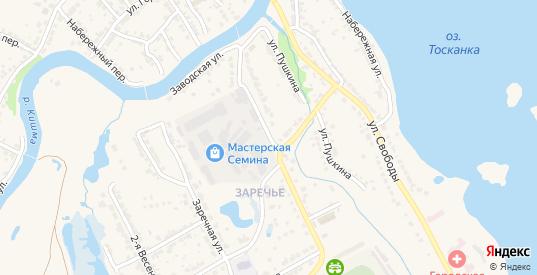 Заводская улица в Ворсме с номерами домов на карте. Спутник и схема онлайн