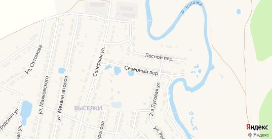 Северный переулок в Ворсме с номерами домов на карте. Спутник и схема онлайн