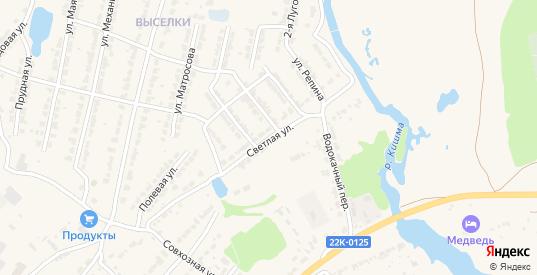 Светлая улица в Ворсме с номерами домов на карте. Спутник и схема онлайн