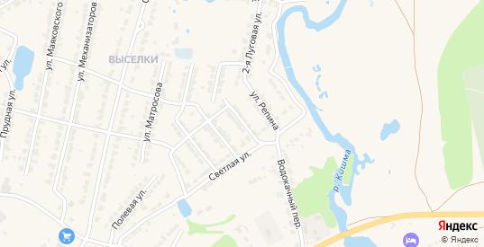 Улица Чайковского в Ворсме с номерами домов на карте. Спутник и схема онлайн