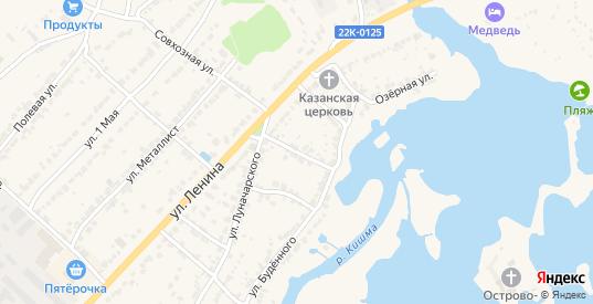 Переулок Буденного в Ворсме с номерами домов на карте. Спутник и схема онлайн