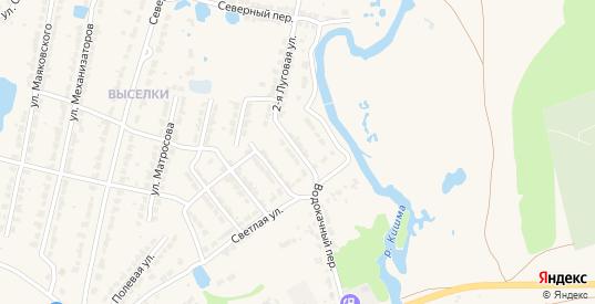 Улица Репина в Ворсме с номерами домов на карте. Спутник и схема онлайн