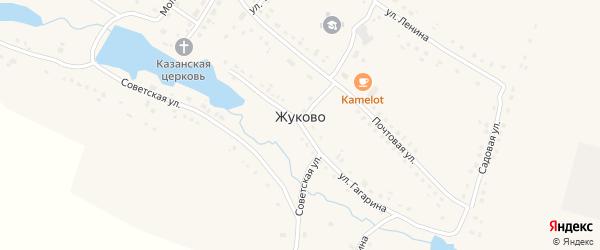Улица Терешковой на карте села Жуково Мордовии с номерами домов