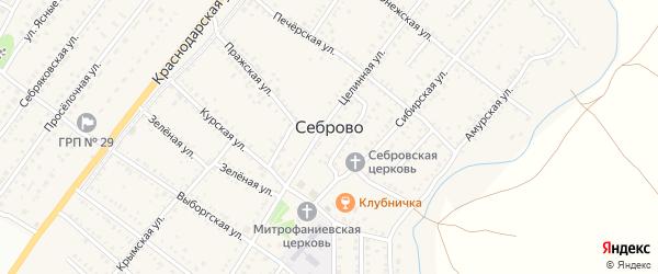 Гражданская улица на карте поселка Себрово с номерами домов