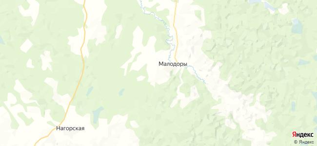 Подосенова на карте