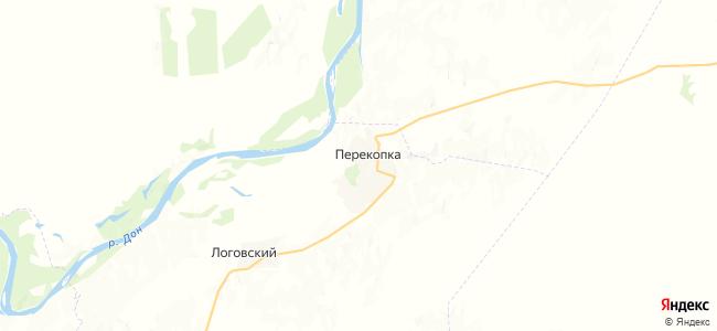 Перекопка на карте