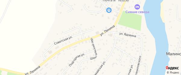 Улица Ленина на карте села Шангалы с номерами домов
