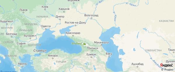 Карта Ставропольского края с городами и районами
