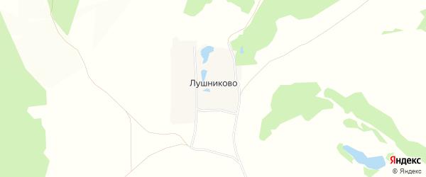 Карта деревни Лушниково в Нижегородской области с улицами и номерами домов
