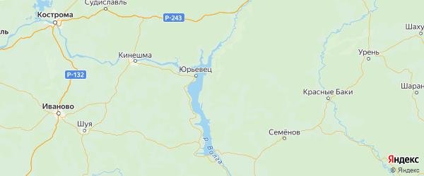 Карта Сокольского района Нижегородской области с городами и населенными пунктами