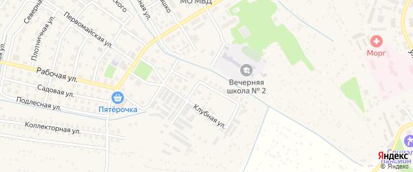 Учительская улица на карте Заволжья с номерами домов