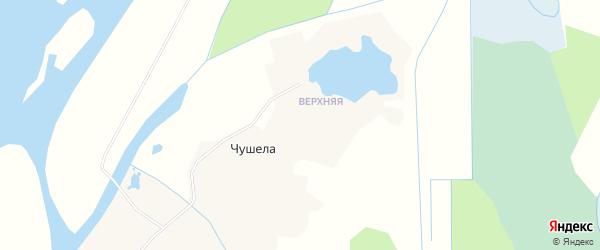 Карта деревни Чушелы в Архангельской области с улицами и номерами домов