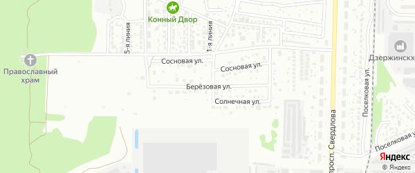 Березовая улица на карте Дзержинска с номерами домов