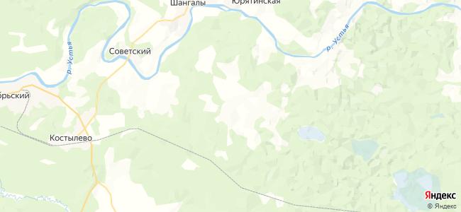 Починовская на карте