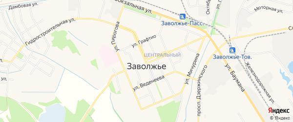 Территория Гаражи в р-не коллект. сада Зеленая зона на карте Заволжья с номерами домов
