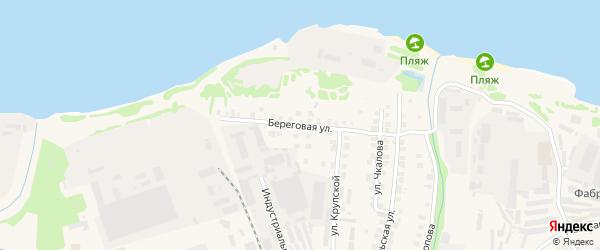 Береговая улица на карте Заволжья с номерами домов