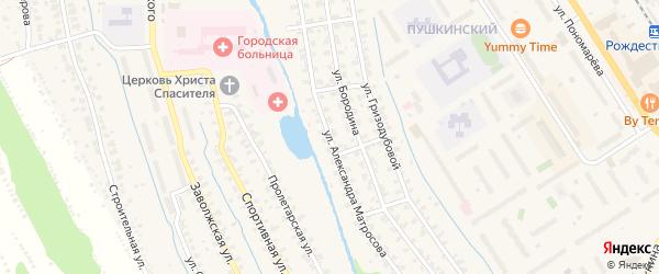 Улица А.Матросова на карте Заволжья с номерами домов
