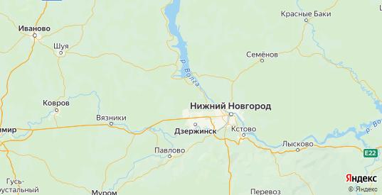 Карта Балахнинский района Нижегородской области с городами и населенными пунктами