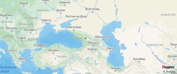 Карта Кабардино-Балкарии с городами и районами