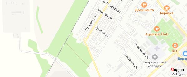 Светлая улица на карте Георгиевска с номерами домов