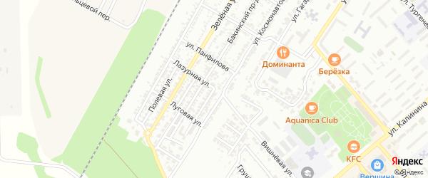 Лазурная улица на карте Георгиевска с номерами домов