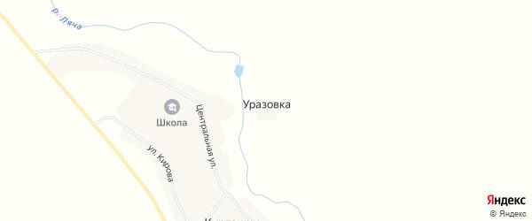 Карта деревни Уразовки в Мордовии с улицами и номерами домов