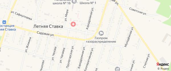 Аэродромная улица на карте села Летней Ставки Ставропольского края с номерами домов