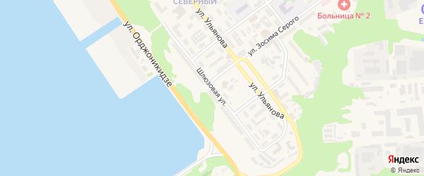 Шлюзовая улица на карте Городца с номерами домов